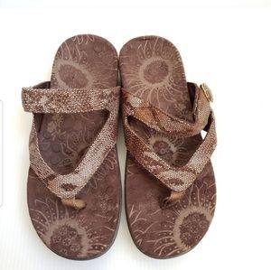 Orthoheel Vionic 7 Brown Thong Sandals Flipflops